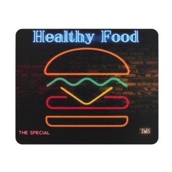 Подложка за мишка TnB Burger, черна, 180 x 200 x 1.5 mm image