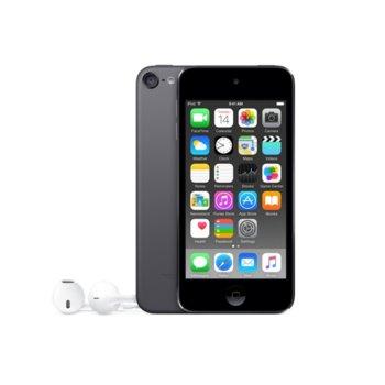 "Apple iPod Touch 6th Gen(сив), 4.0""(10.16 cm) сензорен IPS Retina дисплей, двуядрен A8 64bit 1.1GHz, 1GB RAM, 32GB Flash памет, iSight 8Mpix & Facetime HD 1.2Mpix camera, Wi-Fi, Bluetooth 4.1, iOS 10 image"