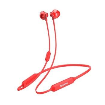 Слушалки Baseus Encok S11A Necklace, безжични (Bluetooth 4.2), микрофон, контрол на звука, 10 часа време за работа, червени image