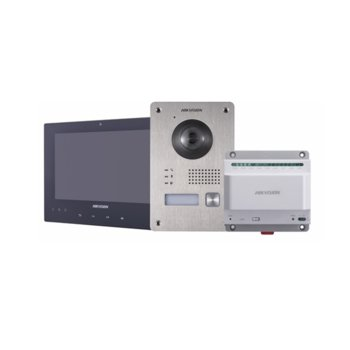 """Видеодомофон HikVision HWV-K701, 2.0MP (1920x1080@25), 7"""" (17.78 cm) дисплей, IR осветление, IP65, RJ-4 image"""