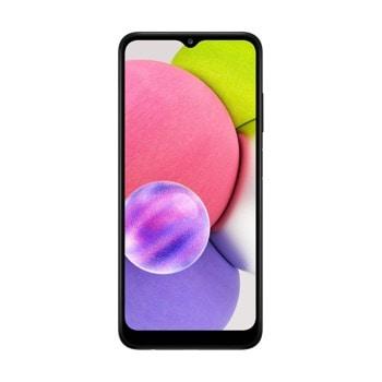 "Смартфон Samsung SM-A037G GALAXY A03s (черен), поддържа 2 SIM карти, 6.5"" (16.51 cm) HD+ дисплей, осемядрен MediaTek MT6765 2,3 GHz, 3GB RAM, 32GB Flash памет (+microSD слот), 13.0 + 2.0 + 2.0 & 5.0 MPix камера, Android, 199 g image"