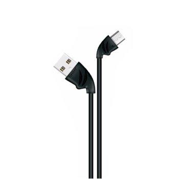 Кабел Earldom EC-037M, от USB A(м) към USB micro B(5pin)(м), Quick Charge 2.1A, 1.0m, различни цветове image