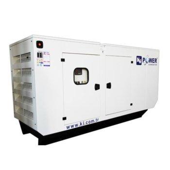 Дизелов генератор KJ POWER KJP 110C, трифазен, двигател PERKINS, алтернатор SINCRO, 110kVA/88kW, водно охлаждане, 182л резервоар, с кожух image