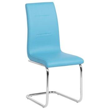 Трапезен стол Carmen 371, еко кожа, син image