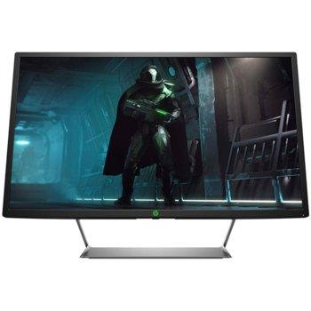 """Монитор HP Pavilion Gaming 32 3BZ12AA, 32"""" (81.28 cm) VA панел, WQHD, 5 ms, 10000000:1, 400 cd/m2, DisplayPort, HDMI, Type C, USB image"""