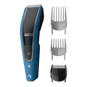 Машинка за подстригване Philips HC5612/15, миеща се, работа на батерия или включен към ел.жрежа, 28 настройки на дължината, 1 гребен за брада, 2 гребена за коса, синя image