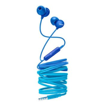 Слушалки Philips UpBeat, микрофон, сини image