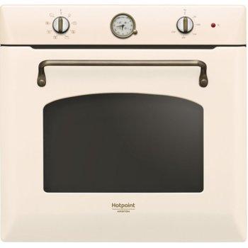Фурна за вграждане Hotpoint-Ariston FIT 804 C OW HA, 73л. обем, 7 програми, механично управление, Функция за гoтвене на пица, енергиен клас А, бяла image