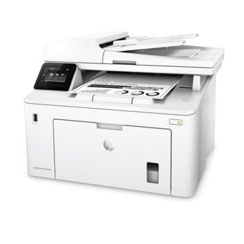 Мултифункционално лазерно устройство HP LaserJet Pro MFP M227fdw, монохромен принтер/копир/скенер/факс, 1200 x 1200 dpi, 28 стр/мин, Lan100, Wi-Fi, USB, A4 image