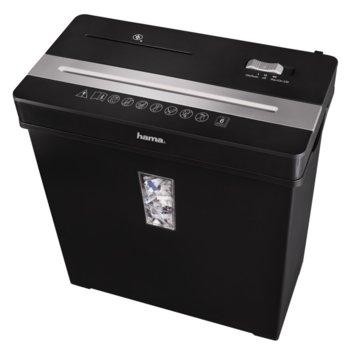 Шредер, HAMA Premium X8CD (50188), до 8 листа А4,CD, DVD дискове и пластмасови карти image