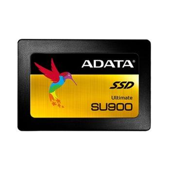 """Памет SSD 256GB A-Data Ultimate SU900, SATA 6Gb/s, 2.5""""(6.35 cm), скорост на четене 560 MB/s, скорост на запис 520 MB/s image"""
