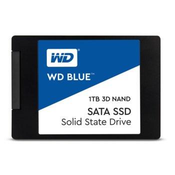 """Памет SSD 1TB Western Digital Blue 3D NAND WDS100T2B0A, SATA 6Gb/s, 2.5""""(6.35 cm), скорост на четене 560MB/s, скорост на запис 530MB/s image"""