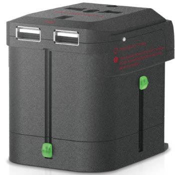 Зарядно устройство Elago Tripshell World Travel Adapter & Dual USB Charger, USB и преходници за цял свят в едно устройство за iPhone, iPad и iPod и мобилни устройства image