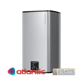 Електрически бойлер Atlantic Steatite Cube Silver, 75 л., 2400 W, емайлиран материал, 71.2 х 49.0 х 51.6 cm, Steatite технология, 4 режима на работа, инокс image