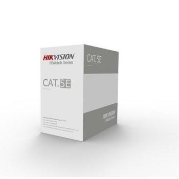 Пач кабел HikVision HWC-5EAU-G, U/UTP, CAT. 5e, 305 m, сив image