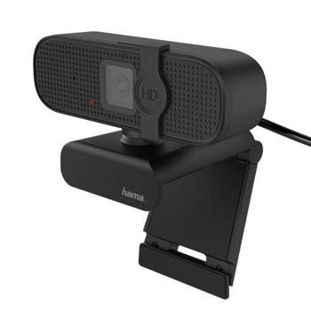 Уеб камера HAMA C-400 (139991), микрофон, 1920x1080 / 30FPS, USB, черна image