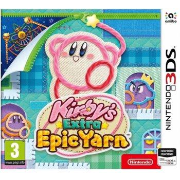 Игра за конзола Kirby's Extra Epic Yarn, за Nintendo 3DS image