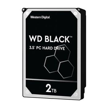 """Твърд диск 2TB WD Black, SATA 6Gb/s, 7200rpm, 64MB, 3.5"""" (8.89 cm), 5г. гаранция image"""