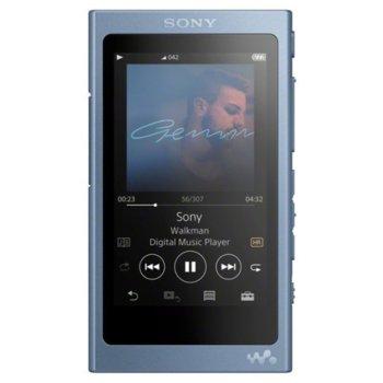 MP3 плейър Sony NW-A45HN, 16GB, Hi-Res Audio, 7.8см дисплей, NFC/Bluetooth, син image