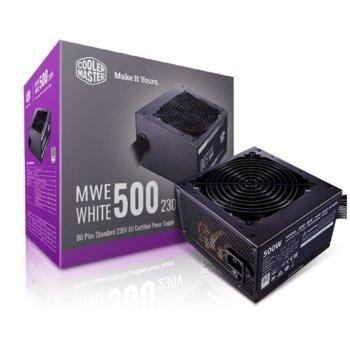 Захранване Cooler Master MWE, 500W, Active PFC, 80-PLUS, Active PFC, 120mm вентилатор image