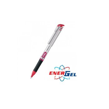Ролер Pentel Energel BL17, червен цвят на писане, дебелина на линията 0.7 mm, гел, сребрист, цената е за 1бр. (продава се в опаковка от 12бр.) image