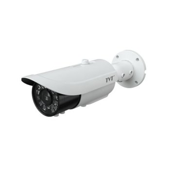 "IP камера TVT TD-9444E2(D/AZ/PE/AR7), насочена ""bullet"" камера, 4.0MP (2592x1520@25fps), 3mm - 12mm обектив, MJPEG, H.264, H.265, IR осветеност (до 100 метра), външна IP66, PoE, RJ-45, двупосочно аудио image"