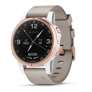 Смарт часовник Garmin D2 Delta S, GPS, стъкло Сапфир кристал, Памет 16GB, сив image