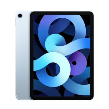 "Таблет Apple iPad Air 4 Cellular (MYH02HC/A)(син), 10.9"" (27.69 cm) Retina дисплей, шестядрен A14 Bionic, 4GB RAM, 64GB Flash памет, 12.0 & 7.0 MPix камера, Ipad OS image"