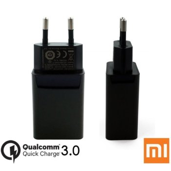 Зарядно устройство Xiaomi Mi MDY-08-DF, от контакт към USB-A(ж), Qualcomm QuickCharge 3.0 5V/2.5A, черен, bulk image