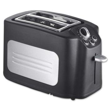 Тостер Crown TBX-71, 2 отделения, повторно нагряване, размразяване, 700W, черен image