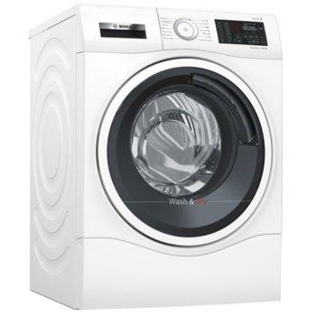 Пералня със сушилня Bosch WDU28540EU, клас A, 10 кг. капацитет пералня/6 кг. капацитет сушилня, 1400 обороти в минута, 14 програми, свободностояща, с възможност за вграждане, 60 cm. ширина, бяла image