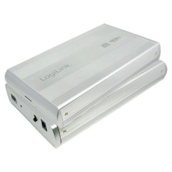 """Кутия 3.5""""(8.89 см), LogiLink UA0107A, за 3.5"""" (8.89 см) HDD, SATA, USB 3.0, алуминиева, сребриста image"""