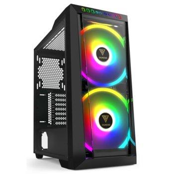 Кутия Gamdias Apollo M2 RGB, ATX/mATX/MINI-ITX, 1x USB 3.0, RGB подсветка, LED контролер, черна, без захранване image