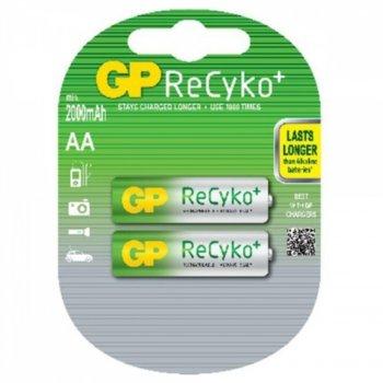 Акумулаторни батерии GP ReCyko+ 2100AAHCB-2UEC2, АА, 1.2V, 2000mAh, NiMH, 2бр. image