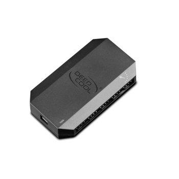 Вентилаторен хъб Deep Cool FH-10 DP-F10PWM-HUB, поддържа до 10 вентилатора, 10x 4-pin порта, 12V, SATA power port image
