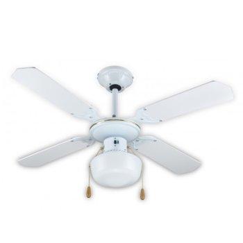 Вентилатор за таван с лампа SAPIR SP 1760 4C1L, 50W, 106 см, 3 степени, бял image