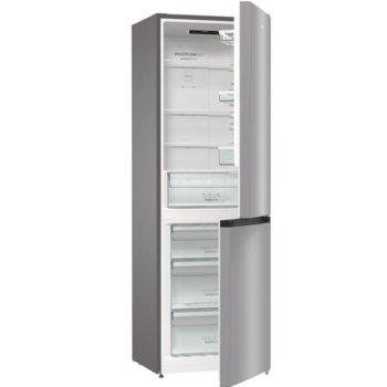 Хладилник с фризер Gorenje NRK6191ES4, клас A+, 320 л. общ обем, свободностоящ, 306 kWh/годишно разход на енергия, NoFrost Plus, AdaptTech, EcoMode, инокс image