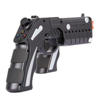 "Джойстик Ipega Phantom ShoX Blaster Gun, безжичен, Bluetooth, черен, Android, iOS, Win XP/7/8/10 Android / iOS smartphone / tablet / smart TV / set-top box, стойка съвместима с устройства до 6"" (15.24 cm)  image"