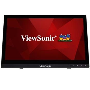"""Монитор ViewSonic TD1630-3, 15.6"""" (39.62 cm) TN панел, тъч скрийн, HD, 12ms, 10,000,000:1, 220cd/m2, HDMI, VGA image"""