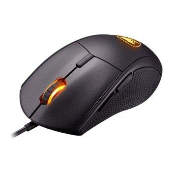Мишка Cougar Gaming Minos X5 Gaming Mouse, Оптична (12000 dpi), черна, с подсветка image