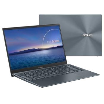 """Лаптоп Asus UX325EA-OLED-WB503R (90NB0SL1-M08890)(сив), четириядрен Tiger Lake Intel Core i5-1135G7 2.4/4.2 GHz, 13.3"""" (33.78 cm) Full HD OLED Glare Display, (HDMI), 8GB DDR4, 512GB SSD, 2x Thunderbolt 4, Windows 10 Home image"""