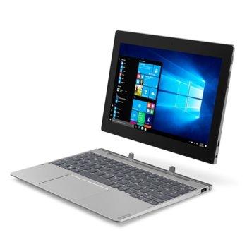 "Хибриден лаптоп Lenovo Ideapad D330-10IGM (81H300FNBM)(сив), двуядрен Gemini Lake Intel Celeron N4000 1.1/2.6 GHz, 10.1"" (25.65 cm) WXGA IPS Touchscreen Display, (USB C), 4GB, 64GB eMMC, Windows 10 Pro image"