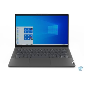 "Лаптоп Lenovo IdeaPad 5 14IIL05 (81YH00BPBM), четириядрен Ice Lake Intel Core i5-1035G1 1.0/3.6 GHz, 14"" (35.56 cm) Full HD IPS Anti-Glare Display, (HDMI), 8GB DDR4, 512GB SSD, 1x USB-C, No OS  image"