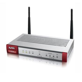 Защитна стена ZyXEL USG40W, 10x VPN (IPSec/15x SSL), 2.4GHz, (3x LAN/DMZ, 1x WAN, 1xOPT), 1x USB image