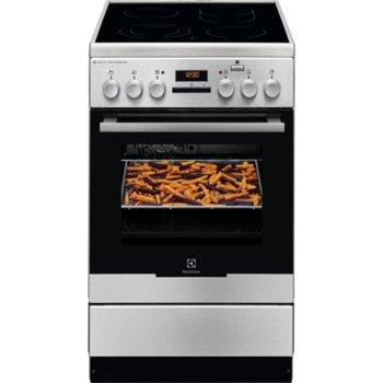 Готварска печка Electrolux EKC54972OX, стъклокерамичен готварски плот с 4 нагревателни зони, 58л. обем, функция PlusSteam, инокс image