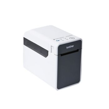 Етикетен баркод принтер Brother TD-2130NHC, 300 dpi, термо-трансферен печат, USB 2.0, LAN 100  image