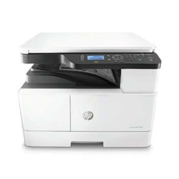 Мултифункционално лазерно устройство HP LaserJet MFP M438n, монохромен принтер/копир/скенер, 1200 x 1200 dpi, 22 стр/мин, LAN, USB, A3 image