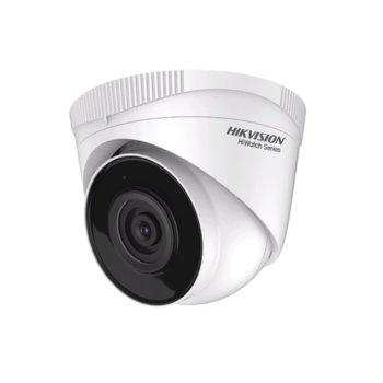 Камера HikVision HWI-T220H-U, куполна камера, 2MP (1920×1080@30fps), 2.8/4 mm обектив, H.265+, H.265+/H.265/H.264+/H.264, IR осветление (до 30m), външна, IP66, PoE, RJ-45 image