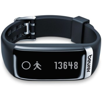 Смарт гривна Beurer AS 87, Bluetooth, показания за измерване на пулс, стъпки, измината дистанция, калории, индикатор за дата, време, iOS, Android image