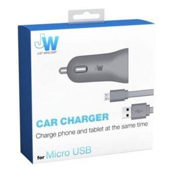 Зарядно за кола Just Wireless 2x USB, 1x microUSB, 12-24V image